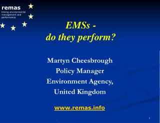 remas linking environmental management and performance