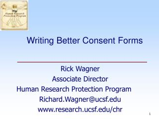 Writing Better Consent Forms