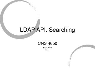 LDAP API: Searching