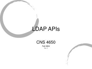 LDAP APIs