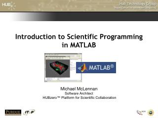 Introduction to Scientific Programming in MATLAB