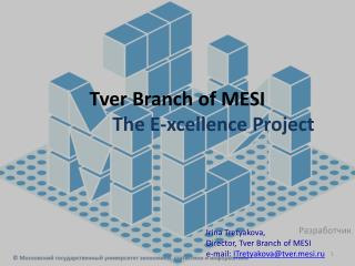 Tver  Branch of MESI                The E- xcellence  Project