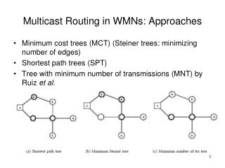 Multicast Routing in WMNs: Approaches