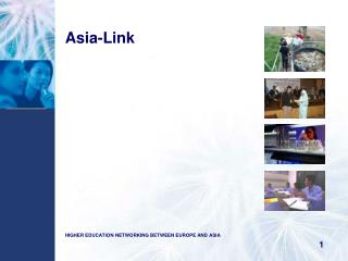 Asia-Link HIGHER EDUCATION NETWORKING BETWEEN EUROPE AND ASIA