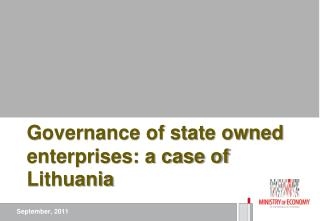 Governance of state owned enterprises: a case of Lithuania