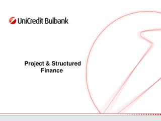 Project & Structured Finance