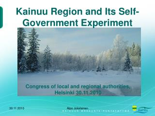 Kainuu Region and Its Self-Government Experiment