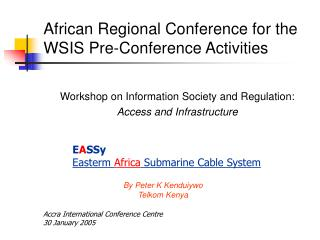 African Regional Conference for the WSIS Pre-Conference Activities