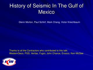History of Seismic In The Gulf of Mexico