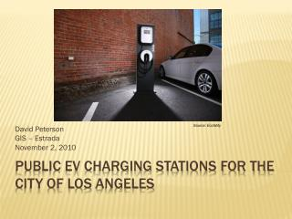 Public EV Charging Stations for the city of los  angeles
