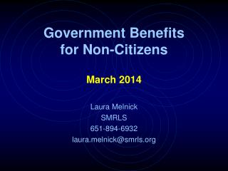 Government Benefits for Non-Citizens