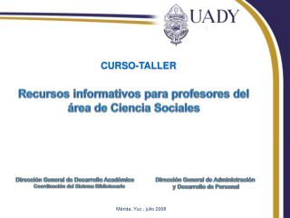 Recursos informativos para profesores del área de Ciencia Sociales