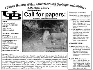 Call for papers: