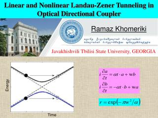 Linear and Nonlinear Landau-Zener Tunneling in Optical Directional Coupler
