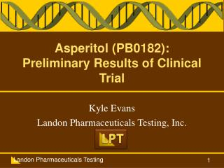 Asperitol  (PB0182): Preliminary Results of Clinical Trial