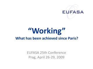 """Working"" What has been achieved since Paris?"
