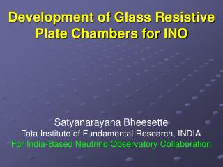 Development of Glass Resistive Plate Chambers for INO
