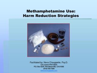 Methamphetamine Use:  Harm Reduction Strategies