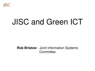 JISC and Green ICT