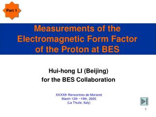 Measurements of the Electromagnetic Form Factor of the Proton at BES