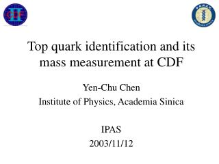 Top quark identification and its mass measurement at CDF