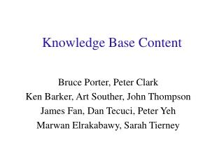 Knowledge Base Content