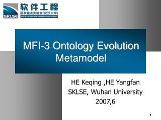MFI-3 Ontology Evolution Metamodel