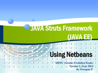 JAVA Struts Framework  (JAVA EE) Using Netbeans