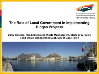 Legal Context:  Roles  & Responsibilities of a municipality