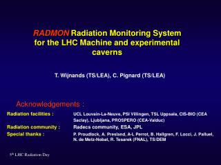 RADMON  Radiation Monitoring System for the LHC Machine and experimental caverns