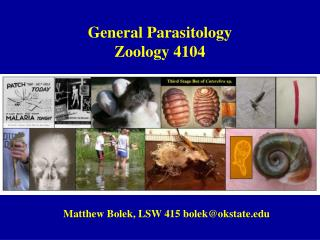 General Parasitology Zoology 4104