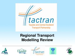 Regional Transport Modelling Review