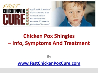 Chicken Pox Shingles – Info, Symptoms and Treatment
