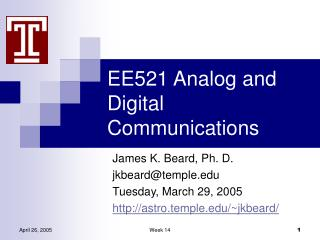 EE521 Analog and Digital Communications