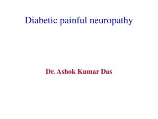 Diabetic painful neuropathy
