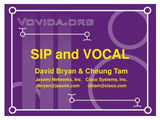 SIP and VOCAL