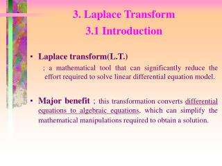 3. Laplace Transform