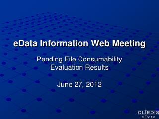eData Information Web Meeting