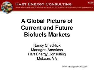A Global Picture of  Current and Future  Biofuels Markets