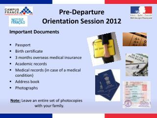 Pre-Departure  Orientation Session 2012