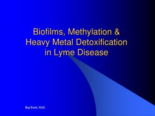 Biofilms, Methylation & Heavy Metal Detoxification in Lyme Disease