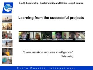 Youth Leadership, Sustainability and Ethics –short course Learning from the successful projects