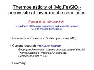 Thermoelasticity of (Mg,Fe)SiO 3 -perovskite at lower mantle conditions