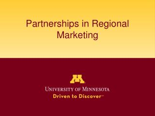 Partnerships in Regional Marketing