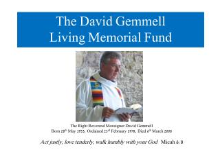 The David Gemmell Living Memorial Fund