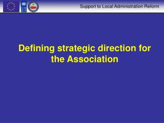 Defining strategic direction for the Association