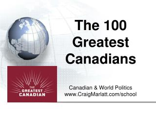 The 100  Greatest Canadians