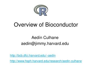 Overview of Bioconductor
