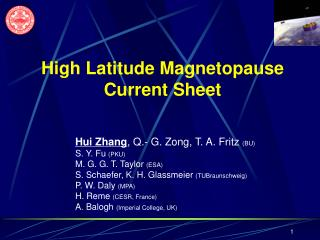 High Latitude Magnetopause Current Sheet