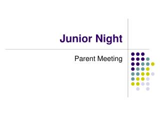 Junior Night